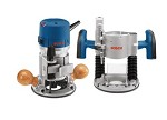Bosch 2.25 HP Combo Plunge and Fixed-Base Router Pack