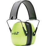 Howard Leight by Honeywell Leightning Hi-Visibility Folding Noise-Blocking Earmuffs