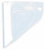 Fibre-Metal by Honeywell Extended View/Clear Impact-Resistant Replacement Window Face Shield - 12 pk.