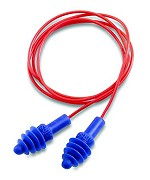 Howard Leight by Honeywell AirSoft Polycorded Multiple-Use Earplugs Polybag