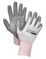 North by Honeywell Pure Fit White/Gray PU Gloves Size 8M