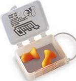 Howard Leight by Honeywell Quiet Uncorded Multiple-Use Earplugs Case