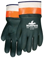 Memphis Oil Hauler Double Dipped Green & Orange Glove-Safety Cuff-Large