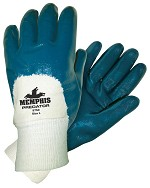Memphis Predator Nitrile Palm Coated Jersey Lined Glove-Knit Wrist-Small