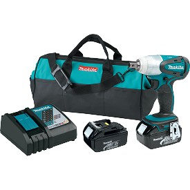 "Makita 18V LXT Lithium-Ion Cordless 1/2"" Impact Wrench Kit"