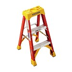 Werner 3 ft. Fiberglass Single Sided Stepladder 6200 Series