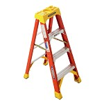 Werner 4 ft. Fiberglass Single Sided Stepladder 6200 Series