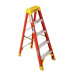Werner 5 ft. Fiberglass Single Sided Stepladder 6200 Series