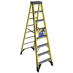 Werner 8 ft. Fiberglass Single Sided Stepladder 7300 Series