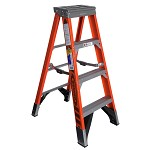 Werner 4 ft. Fiberglass Single Sided Stepladder 7400 Series