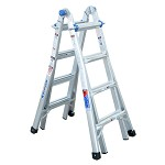 Werner 7-15 ft. Aluminum Telescoping Multipurpose Ladder MT Series