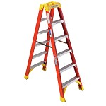 Werner 6 ft. Fiberglass Double Sided Stepladder T6200 Series