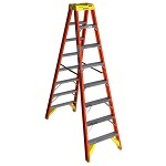 Werner 8 ft. Fiberglass Double Sided Stepladder T6200 Series