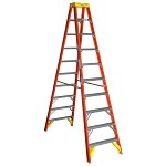 Werner 10 ft. Fiberglass Double Sided Stepladder T6200 Series