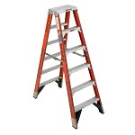 Werner 6 ft. Fiberglass Double Sided Stepladder T7400 Series