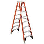 Werner 8 ft. Fiberglass Double Sided Stepladder T7400 Series
