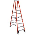 Werner 10 ft. Fiberglass Double Sided Stepladder T7400 Series