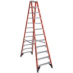 Werner 12 ft. Fiberglass Double Sided Stepladder T7400 Series