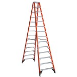 Werner 14 ft. Fiberglass Double Sided Stepladder T7400 Series