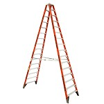 Werner 16 ft. Fiberglass Double Sided Stepladder T7400 Series