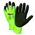West Chester 705CGNF-2X Zone Defense HPPE Shell w/ Nitrile Foam Palm Coat Gloves- Green/Black