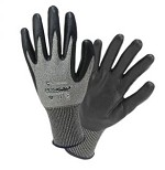 West Chester 730TBN-2X PosiGrip Nitrile Dipped Gloves- Gray/Black