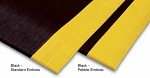 Apache Mills 3 ft x 5 ft Safety Soft Foot Pebble Embossed Black/Yellow Anti-Fatigue Mat