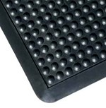 Apache Mills 2 ft x 3 ft BubbleFlex Black Anti-Fatigue Mat