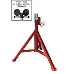 B&B Standard Low Profile Pipe Jack with Roller Head & Rubber Wheels
