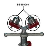 B&B Pipe Jack Ball Transfer Sleeve - Stainless - 2 pc.