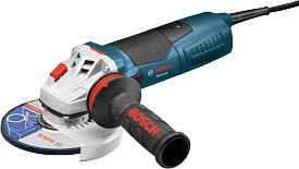 "Bosch 9"" 15.0 Amp Angle Grinder with No Lock-On Trigger Switch"