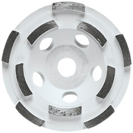 "Bosch 4"" Double Row Segmented Diamond Cup Wheel"