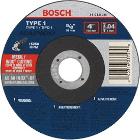"Bosch 5"" Rapido Metal Cutting Abrasive Wheel"