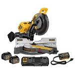DeWALT FlexVolt 120v Sliding Miter Saw with Adaptor, Batteries, & Charger