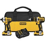 DeWALT 20V Max XR Lithium Ion Brushless Compact Drill/Driver and Impact Driver 2-Tool Combo Kit
