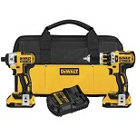 DeWALT 20V Max XR Lithium Ion Brushless Compact Hammer Drill and Impact Driver 2-Tool Combo Kit