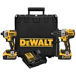 DeWALT 20V Max XR Cordless Brushless Hammer Drill and Impact Driver Combo Kit