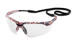 Gateway Conqueror Old Glory Camo Frame, Clear Lens Safety Glasses - 10 pk.