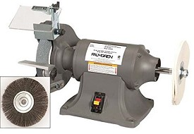 "Palmgren by C H Hanson 9682068 Powergrind 6"" Heavy Duty Bench Grinder/Buffer"