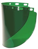 Fibre-Metal by Honeywell Wide/Dark Green Impact-Resistant Replacement Window Face Shield - 12 pk.