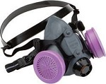 North by Honeywell Half Mask Respirator with Organic Vapor Cartridges and N95 Pre-Filters