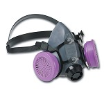 North by Honeywell Half Mask Respirator with Organic Vapor/Acid Gas Cartridge and P100 Filter - Size Small