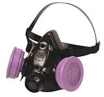 North by Honeywell 100% Silicone Premium Half Mask Respirator - Size Med
