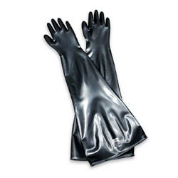 "Honeywell Neoprene Glovebox Ambidextrous 30 mil gauge Gloves with 8"" Cuff/Port Diameter"