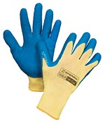 Honeywell Tuff-Coat Kevlar Gloves w/ Blue Latex Coating - Size 7S