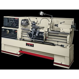 "Jet 14"" Large Spindle Bore Lathe Model GH-1440ZX with Taper Attachment"
