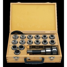 Jet Milling Chuck and Collet Set - 17 pc.