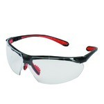 KleenGuard V40 Maxfire Black/Red Safety Glasses-Clear Anti-Fog Lens