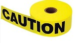 Keson BT1215 1000 ft Yellow Caution Construction Area Tape - 8 pk.