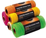 Keson OT275 275 ft Orange Twisted Mason Twine - 12 pk.